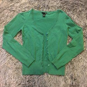 H&M Green Cardigan Sweater
